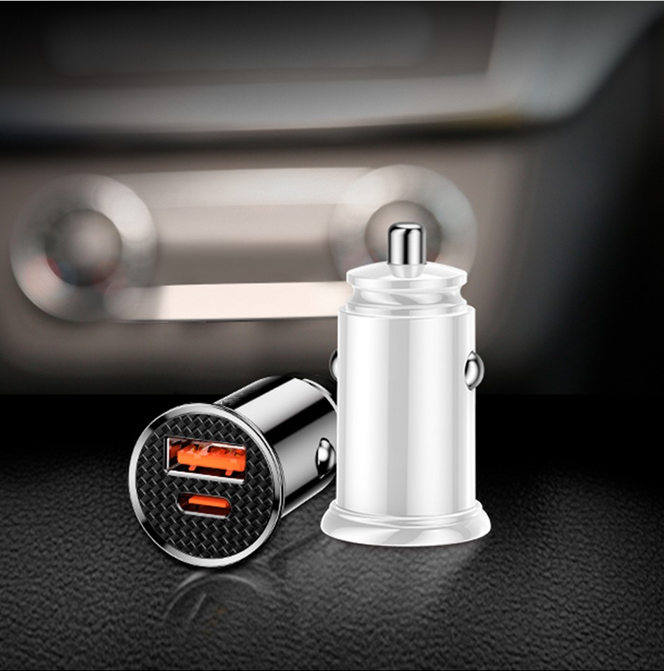 Vehicle Quick Charger 3.0 2 USB or USB with Type C