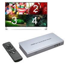 HDMI 4x1 четырехъядерный мультипросмотр HDMI коммутатор 4 в 1 выход видео преобразователь 1080P PIP картинка в изображении бесшовный переключатель 5 моделей ПК на ТВ