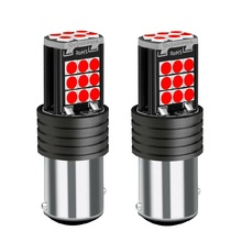 2PCS 1157 P21/5W BAY15D Super Bright 3030 LED Car Tail Brake Lamps Turn Signals Bulb Auto Daytime Running Light Red White Yellow