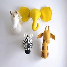 Скандинавский стиль голова животного детская комната декоративные украшения настенные украшения