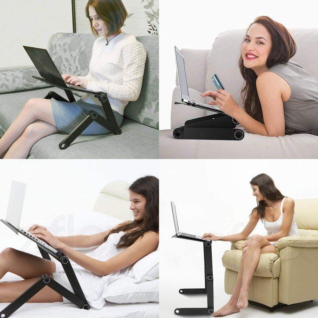 Ergonomic Magic Laptop Desk with Cooling Fan- Portable  5