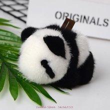 Мини норковая маленькая панда брелок меховой кулон ювелирные