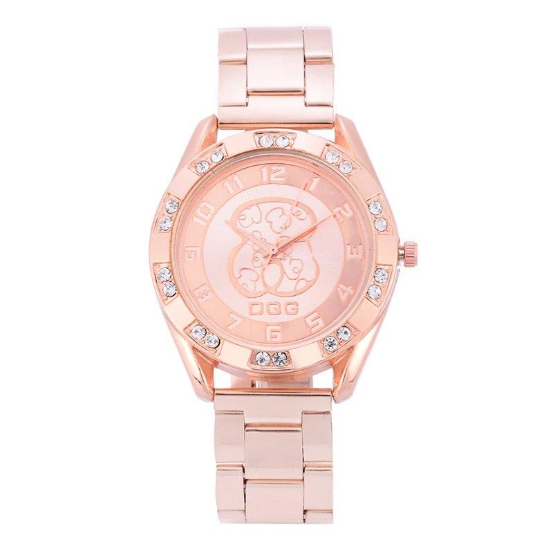 Kobiet Zegarka 2019 Hot Sale Newest Luxury Brand Bear Watch Silver Golden Full Steel Rhinestone Sport Quartz Watches Reloj Mujer