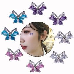 Piercing microdermal de borboleta, aço inoxidável, 16g, 1 peça, anel de âncora dermal, joia corporal com superfície, mergulhador de pele, 1 peça