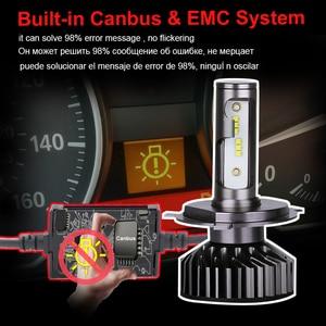 Image 2 - PANDUK H7 LED H4 ZES 18000LM في Canbus H11 H8 H1 HB3 9005 9006 LED HB3 LED مصباح أضاءه أمامي Led أضواء ل سيارة 80W 6000K 8000K 12V