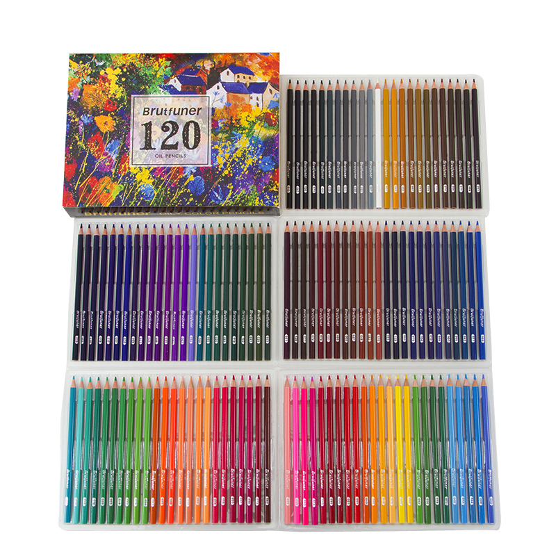 120 Colores Profesionales Pencil Art Supplies Painting Pencil Set For Kids Artist Painting Sketching Wood Oil Based Pencil