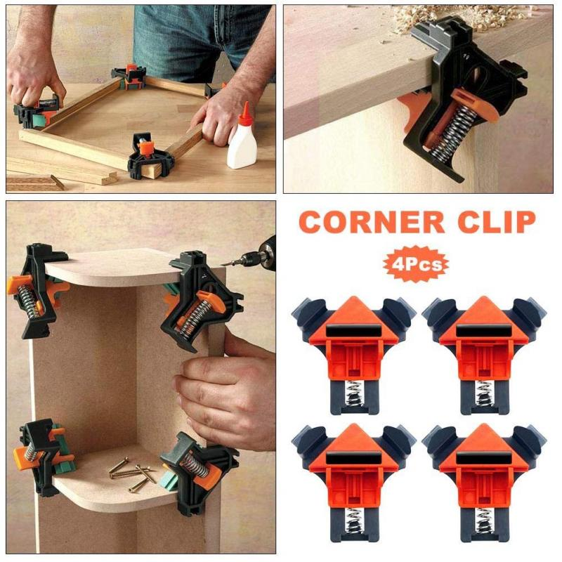 4 Pcs Multifunction Nailing DIY Drill Carpentry Tool ABS Accessory  Retainer Corner Clamp Positioning Screwing