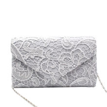 Women Floral Lace Evening Party Women Clutch Bag Bridal Wedd