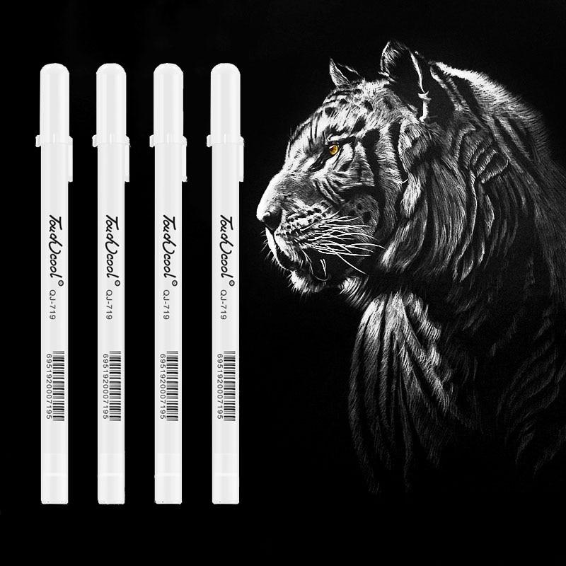 Маркер для рисования белая художественная ручка креативный дизайн крючок линия Жидкий Мел маркировка краска ручка школьные канцелярские п...