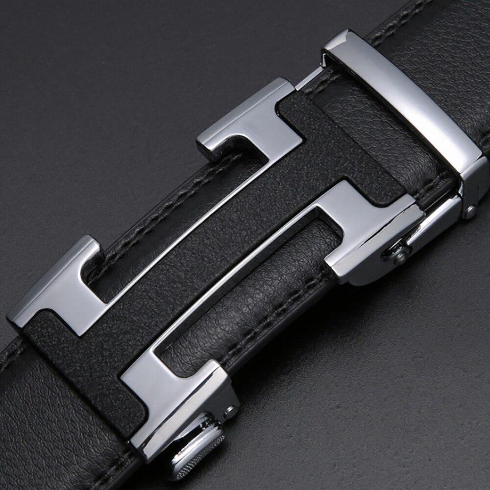 Echain Luxury Vintage Designer H Belts Men High Quality Women Genuine Real Leather Dress Strap Belt for Jeans Cinturones Hombre