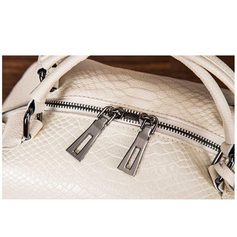 Büyük çanta hakiki deri çantalar lüks omuz tasarımcı bayanlar ünlü marka crossbody 2019 kadın siyah kadınlar için yumuşak bez