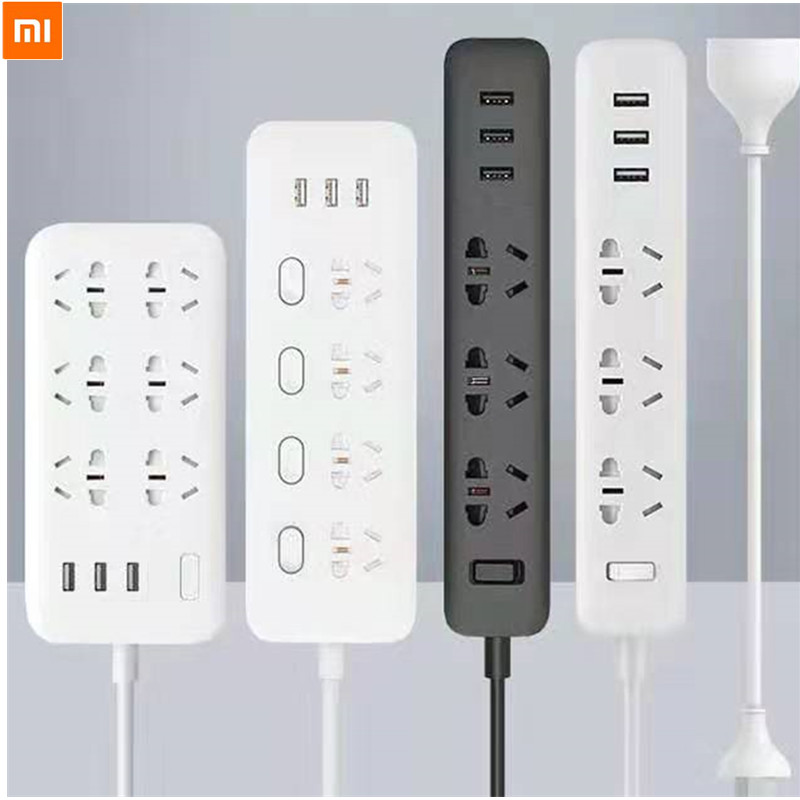 Xiaomi MIJIA WIFI enchufe inteligente zigbee Cable remoto inalámbrico tarjeta de alimentación 3/4/6 agujero USB de carga rápida 2500W 10A 250V UE EE. UU. Xsky 6M 20 LED guirnalda de luces de hadas para boda decoración de jardín de Navidad bombilla LED globo guirnalda de luces Led EU US Fiesta al aire libre