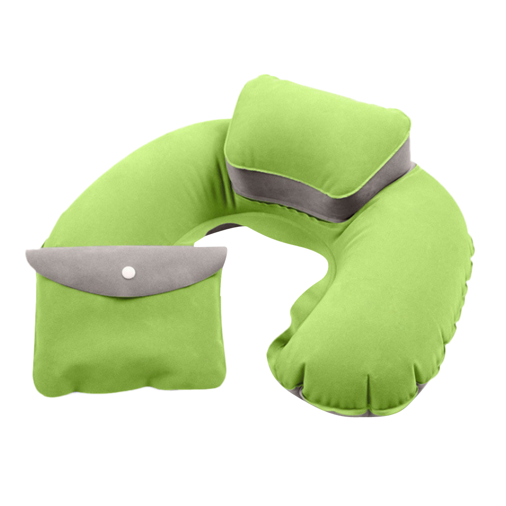 Travel Plane Inflatable U Shape Pillow Comfortable Neck Head Rest Air Soft Cushion Camp Sleeping Gears for Camping Hiking
