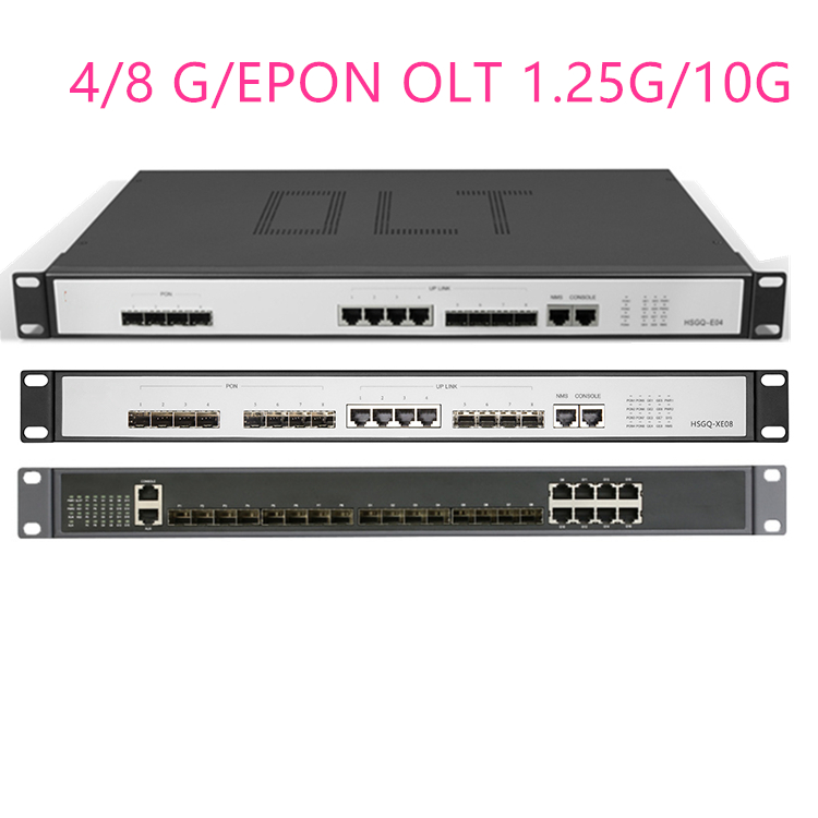 4/8G/EPON OLT 4/8 PON  4 SFP 1.25G/10G SC  WEB Management SFP PX20+ PX20++ PX20+++/C+/C++ UI Open Software Open Software