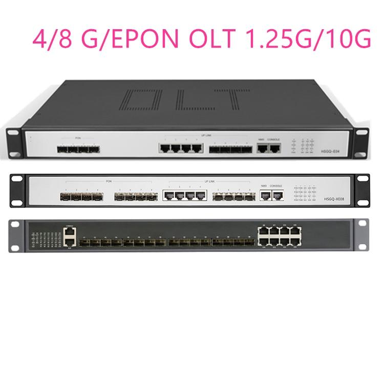 4/8G/EPON OLT 4/8 PON  4 SFP 1.25G/10G SC  WEB Management SFP PX20+ PX20++ PX20+++/C+/C++ UI Open Software Open Software