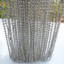 20pcs White K/Hematite plated spherical metal necklace Finding 58cm,2mm