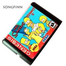 Yeni varış bölge ücretsiz 16 bit MD hafıza kartı Sega Mega sürücü SEGA Genesis için Megadrive Simpsons sokaklarda rage 2