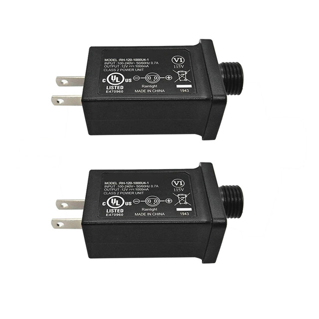### 12V 1A Class 2 Power Supply, LED Transformer Replacement for String Light Inflatable Device Home Improvement Tools Garden