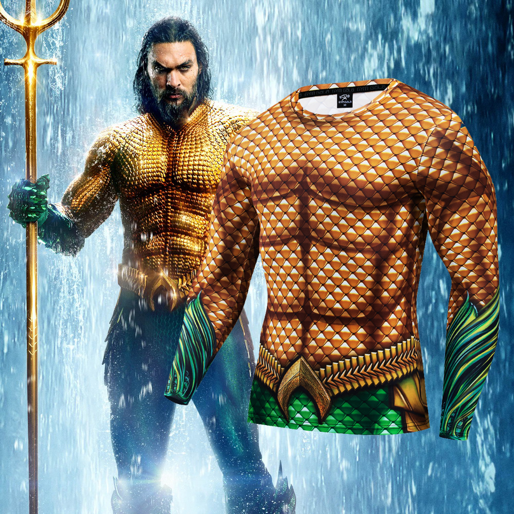 Aquaman   t     shirt   3d print Spiderman captain superman shazam brand   t     shirt   men funny fitness compression   shirt   fashion 2019 style