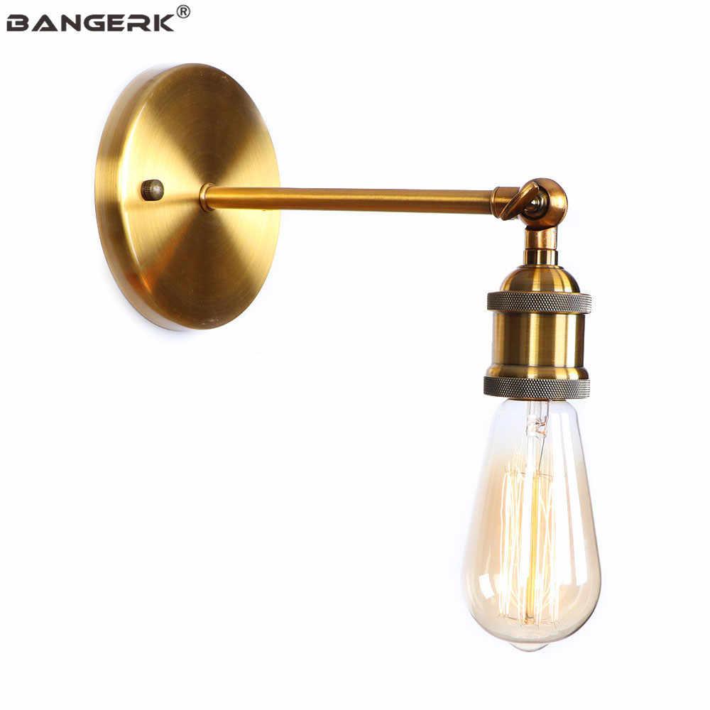 Промышленные винтажные бра, настенные светильники Лофт железа отрегулировать E27 Edison светодиодный настенный светильник прикроватный домашний декор освещение в помещении бронза