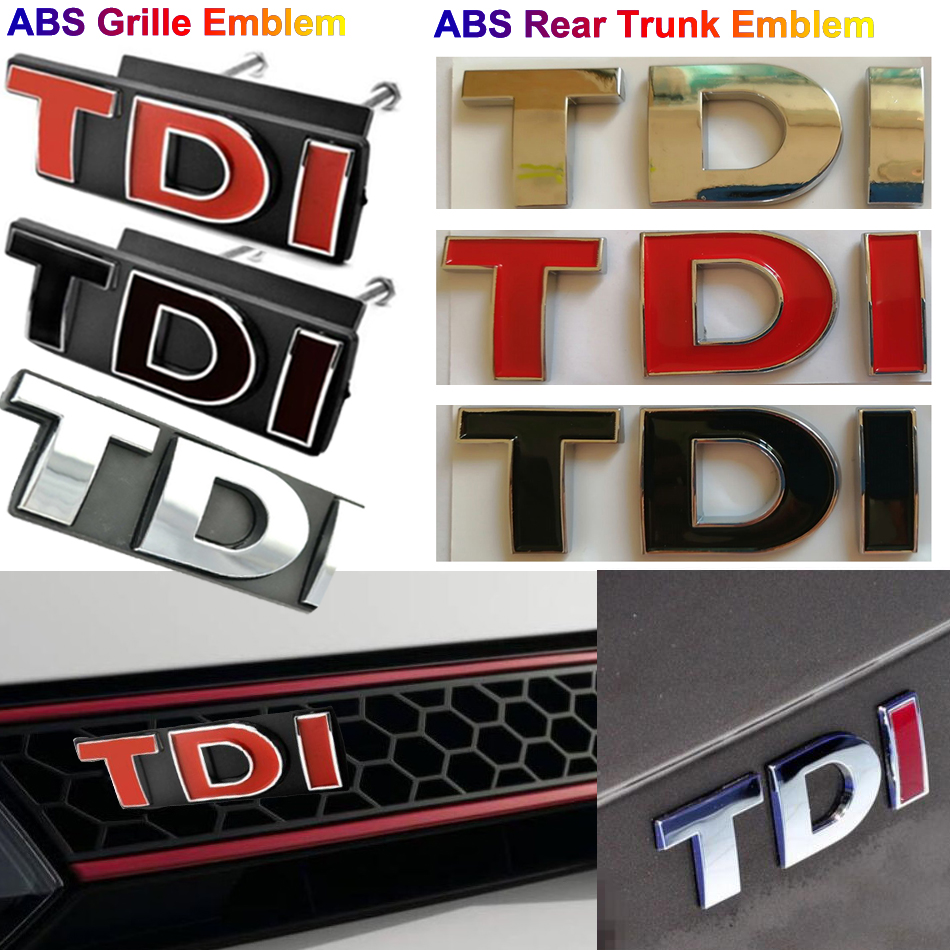 Car Rear Trunk Gti Letter Emblem Badge Sticker for Vw Tdi Passat Jetta Mk4 Mk5