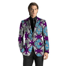 African Print Men's Blazers Ankara Man Suit Jacket Custom Made Wedding Coat Traditional & Cultural Men African Clothes bascom african art in cultural perspective clot h