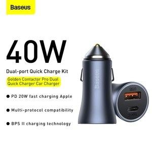 Image 3 - Baseus PD 20W USB Car Charger Quick Charge QC 4.0 3.0 Dual USB C Quick Charge Fast Charger For iPhone 12 Pro Max Xiaomi Huawei
