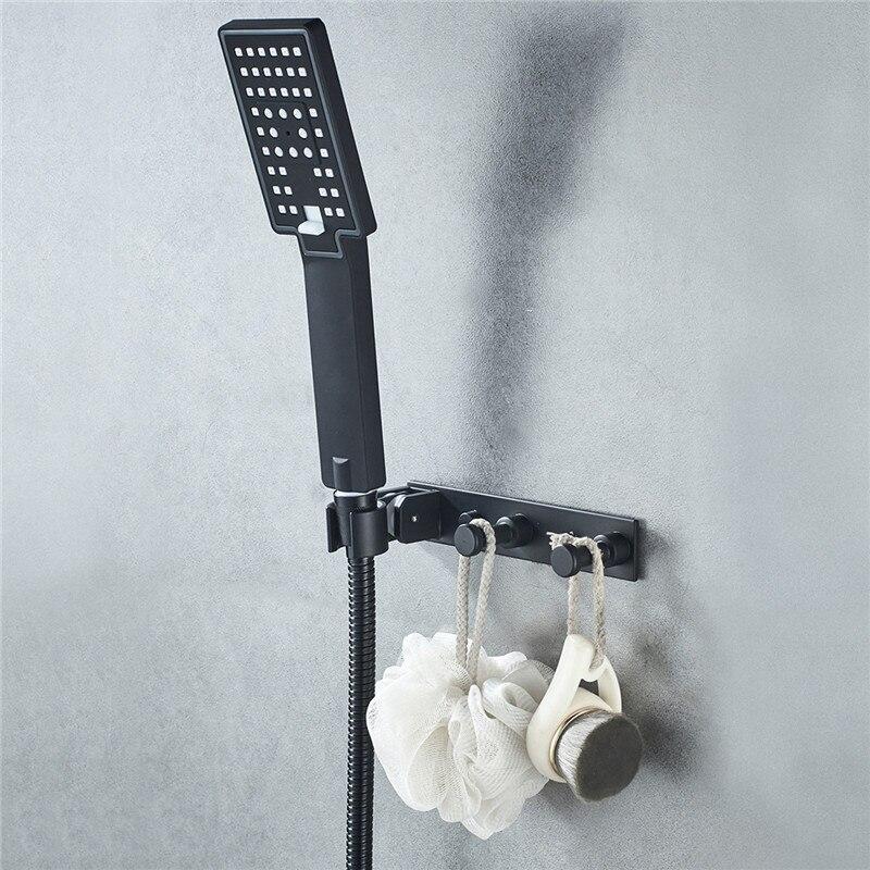 Регулируемый ванная душ насадка держатель настенный навесное полотенце банные принадлежности хранение подвес крючки