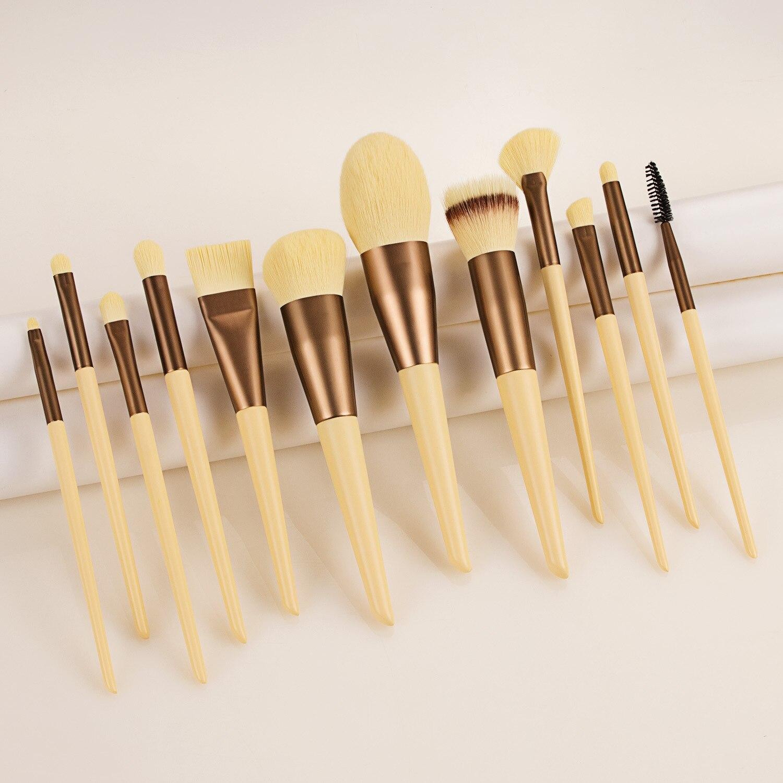 12Pcs/lot Makeup Brushes Set Synthetic Hair Professional Make Up Brush For Eyeshadow Foundation Powder Eyeliner Eyelash Brushes