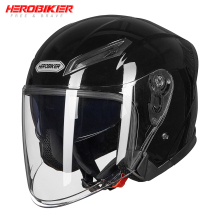 HEROBIKER New Motorcycle Helmet Open Face Moto Motorbike Full Street Bike Racing Cascos Dual Lens