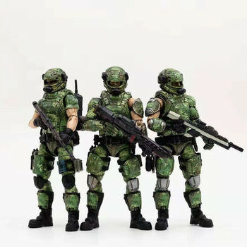 Russian Camouflage Team 3 Solider Action Figure Set JOYTOY Model Toy JOYTOY 81911021 Collectible 1/18 Scale 10.5cm  for Fan Gift