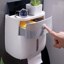 Support porte papier hygiénique multifonction pour accessoires de salle de bain, boîte de rangement étanche Place objets téléphones distributeur de papier toilette