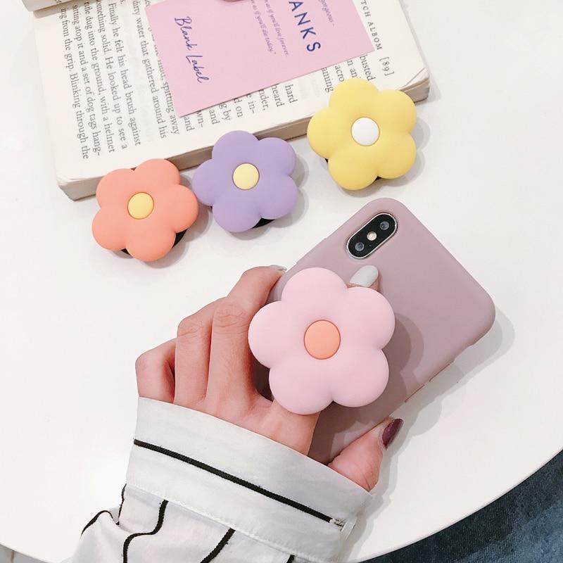 Bonito flor dobrável suporte kawaii para suporte do telefone móvel para o iphone x 8 7 6 plus ipad para samsung para huawei telefone caso aperto