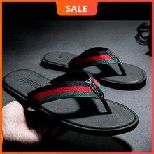 WEH Male Slippers For Men Flip Flops home shoes Summer beach mens slippers Indoor Or Outdoor sports homme slides men black