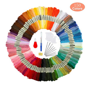 50/100/150 Colors Cross Stitch Floss Cotton Sewing Skeins Embroidery Thread Floss Skein Kit DIY Sewing Tool Set For Women Gift