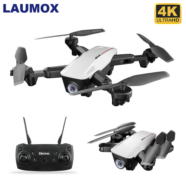 LAUMOX LX100 RC Drone With 4K 1080P HD Camera Optical Flow Positioning WIFI FPV Foldable Quadcopter Helicopter Drones X12 M65