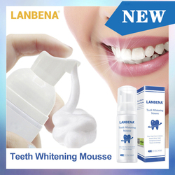 60ml Teeth Whitening Mousse Remove Bad Breath Plaque Stains Cleaning Teeth Oral Hygiene Toothpaste Bleaching Dental Tool