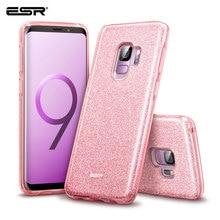 Funda ESR para Samsung Galaxy S9, funda de maquillaje serie trasera, funda protectora brillante con brillo, funda de 3 capas para Samsung S9 Plus