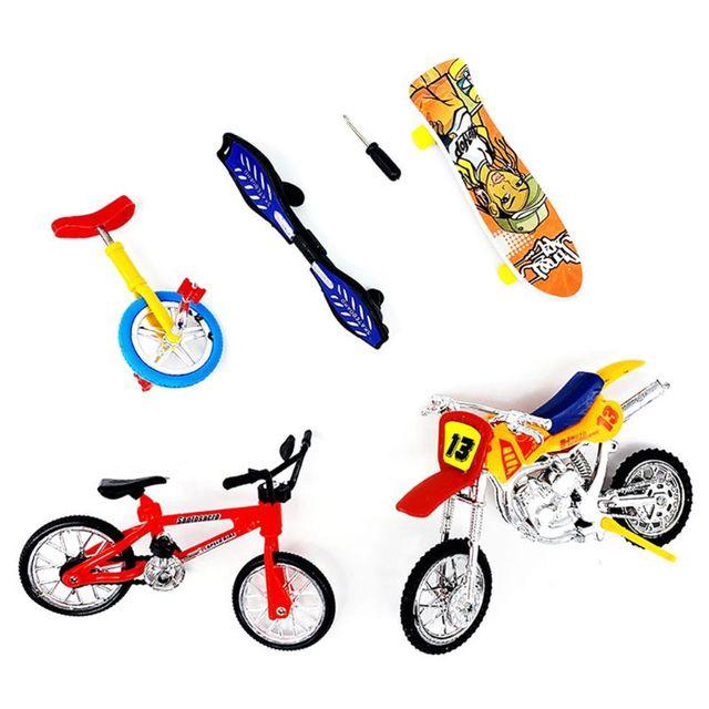 Mini rower na palec motocykl zestaw rower podstrunnica DIY kreatywna gra deskorolka dzieci zabawki edukacyjne dla dzieci tanie tanio OOTDTY Z tworzywa sztucznego CN (pochodzenie) T5EC2SS307836 Product Size app 29x25x6cm 11 42x9 84x2 36in Finger rowery