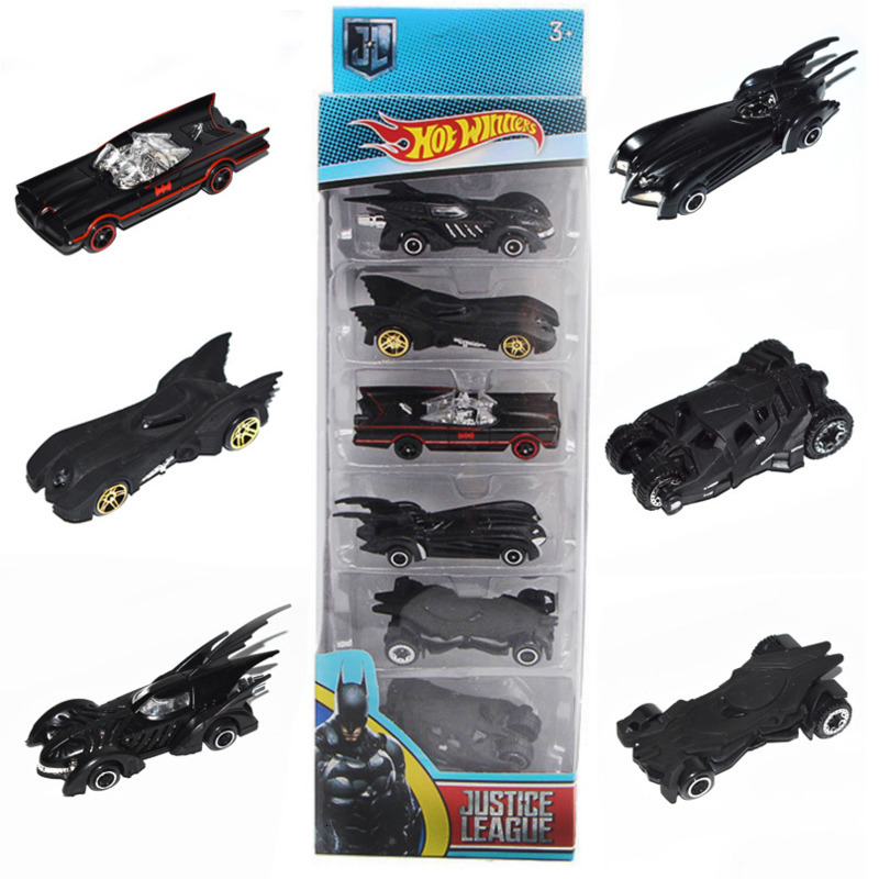 6 Pcs / Set Bat Chariot 1:64 Alloy Car Models Bat Chariot 6 Generation Metal Cars Suit Diecasts Toy Vehicles Toys For Children