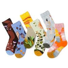 Outono e inverno meias crianças design em moda tubo meias homens e mulheres amantes quatro estações meias de algodão moda rua