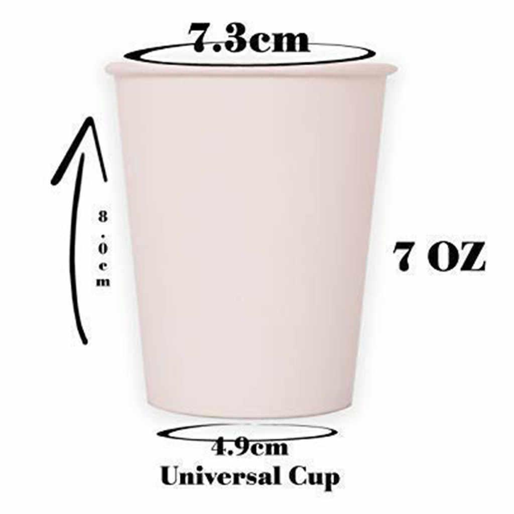 100 шт чистый цвет вечерние одноразовые бумажные стаканчики чашка сока сделай сам для украшения детского душа день рождения свадьбы пикника Посуда Поставка 180