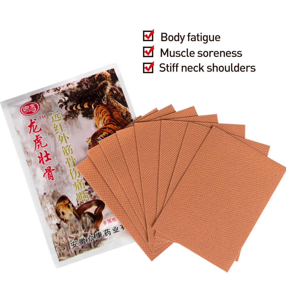 8Pcs Red Tiger Balm Rheumatoider Medizinische Gips Chinesischen Schmerzen Relief Patch Muskel Zurück Arthritis Spondylose Aufkleber C1582