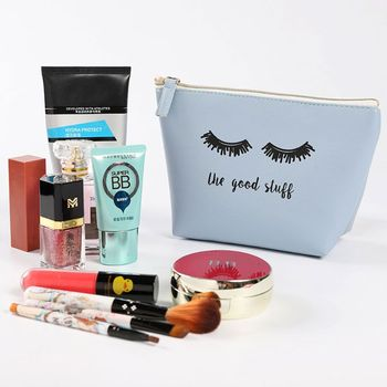 Portable Cartoon Eyelash Coin Storage Case Travel Makeup Pouch Cosmetic Bag Cases For Women Girls zebra stripe portable makeup cosmetic case storage travel bag