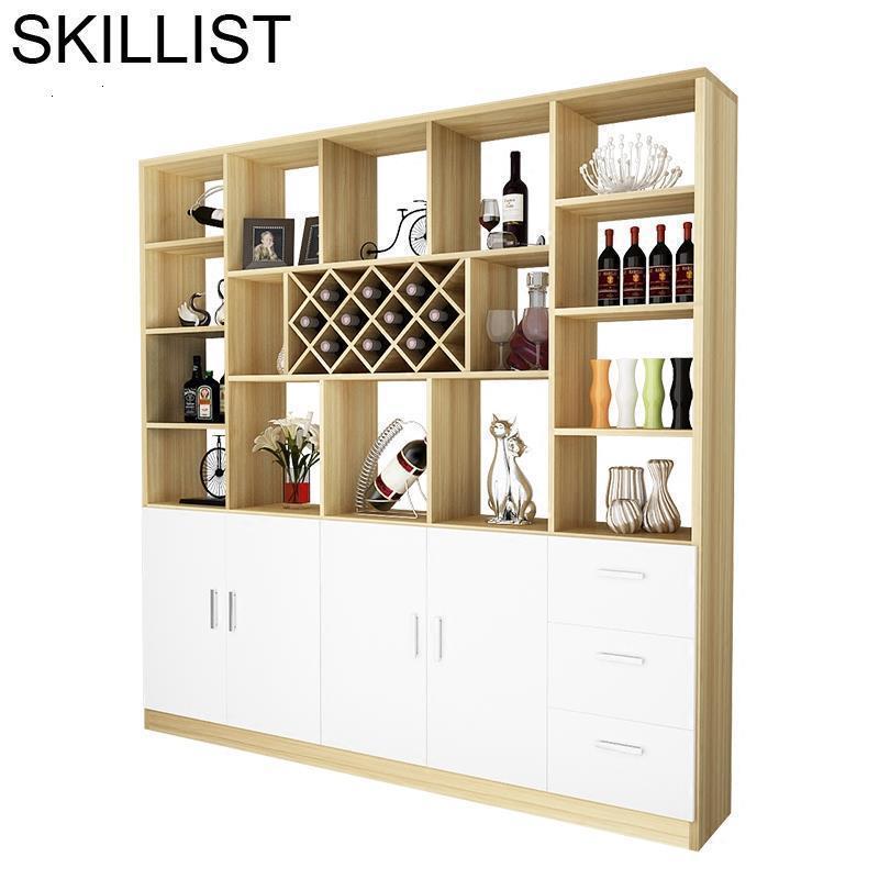 Mobilya Mesa Storage Cocina Armoire Salon Vetrinetta Da Esposizione Table Commercial Mueble Bar Furniture Shelf Wine Cabinet