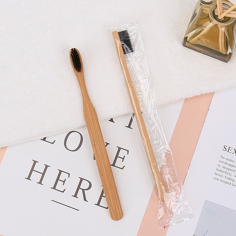2/1 Pcs Natural Pure Bamboo Toothbrush Portable Soft Hair Tooth Brush Eco Friendly Brushes Oral Cleaning Care Tools
