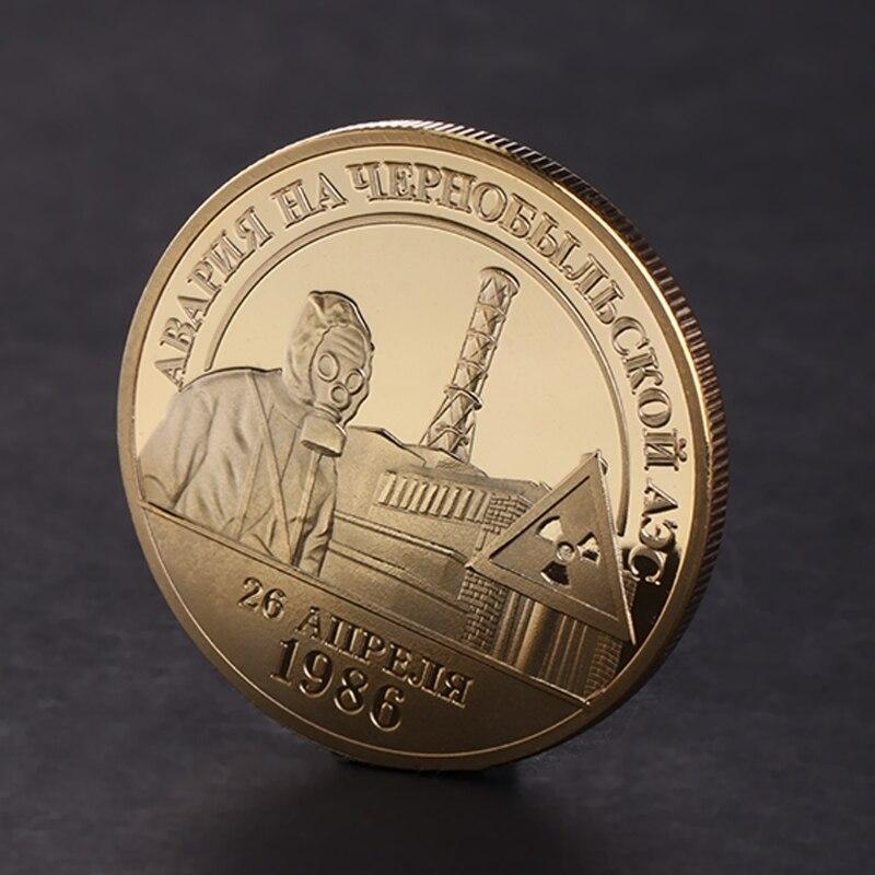Позолоченные памятная монета 1986 1996 ядерный инцидент сплав коллекция искусство производителя