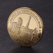 Banhado a ouro moeda comemorativa 1986 1996 nuclear incidente liga coleção arte presente lembrança