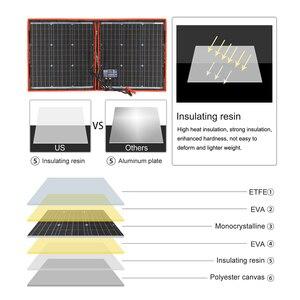 Image 5 - 18V 80W Monocrystalline מתקפל ערכת עם בקר תשלום 12V עבור בית/קמפינג/RV פוטו פנל סולארי סין