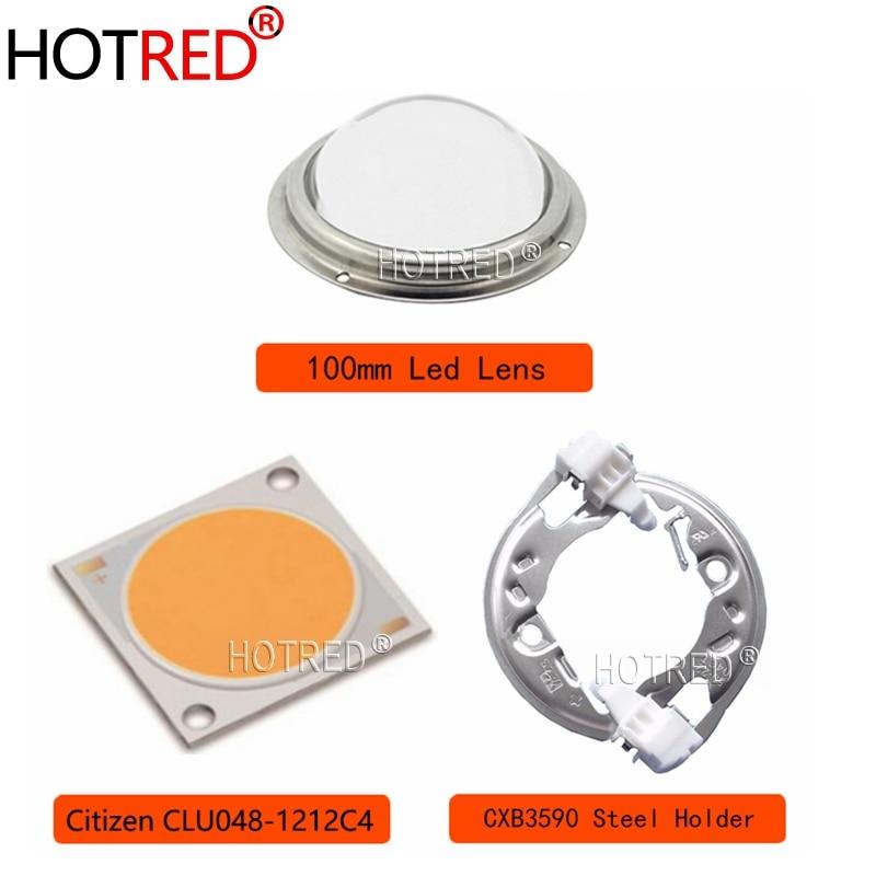 Citizen COB Series Version6 CLU048 1212 soporte ideal heatsink Meanwell controlador 100mm lente de vidrio reemplazar CXB3590 Grow led diodo